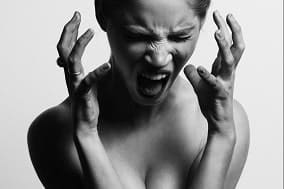 woman with an anxiety attack